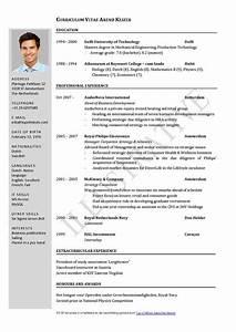 Curriculum vitae resume cv for Cv resume
