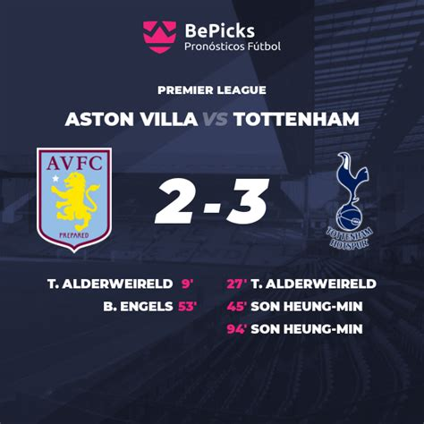 Tottenham's hopes of securing european football were dented as aston villa came from behind to claim a deserved premier league victory in front of 10,000 fans at tottenham hotspur stadium. Aston Villa vs Tottenham - Predictions, preview and stats