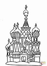 Coloring Cathedral Moscow Basil Architecture Colouring Colorare Disegni Raskraski Supercoloring Rossii Moskva San Russia Dessin Russie Froid Avoir Arrive Vas sketch template