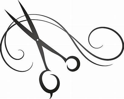 Scissors Clipart Salon Clip Friseur Illustrations Schere