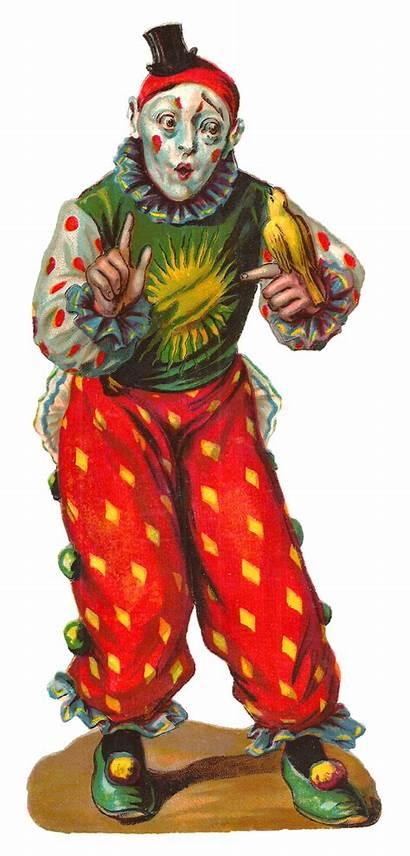 Circus Clown Digital Clip Clipart Carnival Artwork