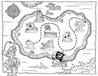 Treasure Coloring Map Pirate Pages Maps Printable