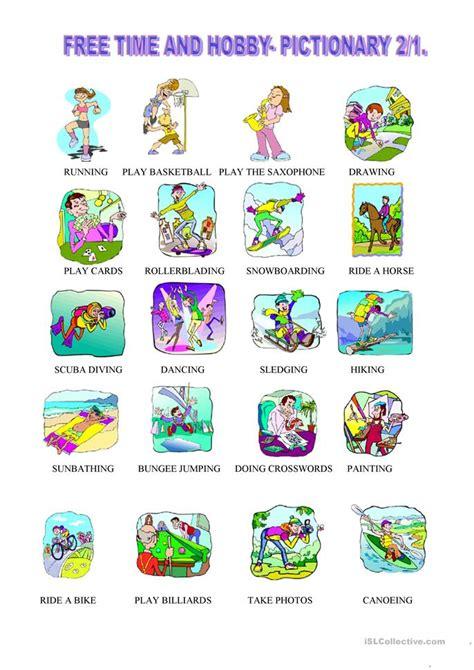 esl hobbies worksheets