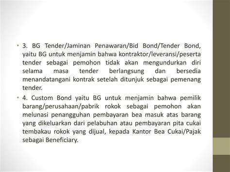 jasa layanan bank garansi bg powerpoint