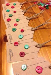 items similar to christmas gift tags button baubles pack of 6 on etsy