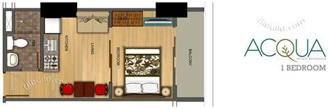 1 bedroom floor plans condo sale at acqua residences condominiums floor
