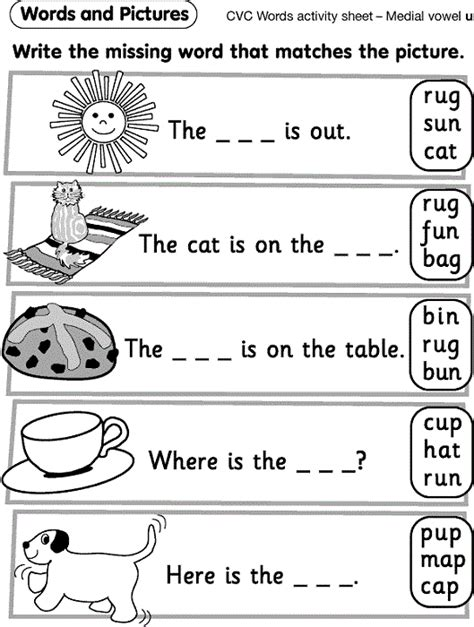 reception worksheets pictures learning printable