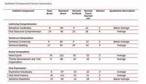 standardized achievement test w simplebookletcom With wppsi iv report template