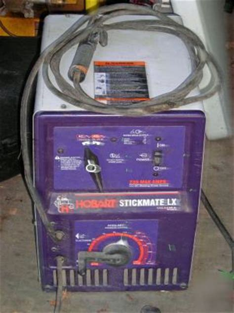 hobart  amp stick welder stickmate lx  ac