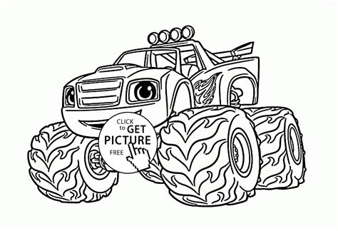 Kleurplaat Blaze by Blaze Coloring Pages Printable Coloring For 2019