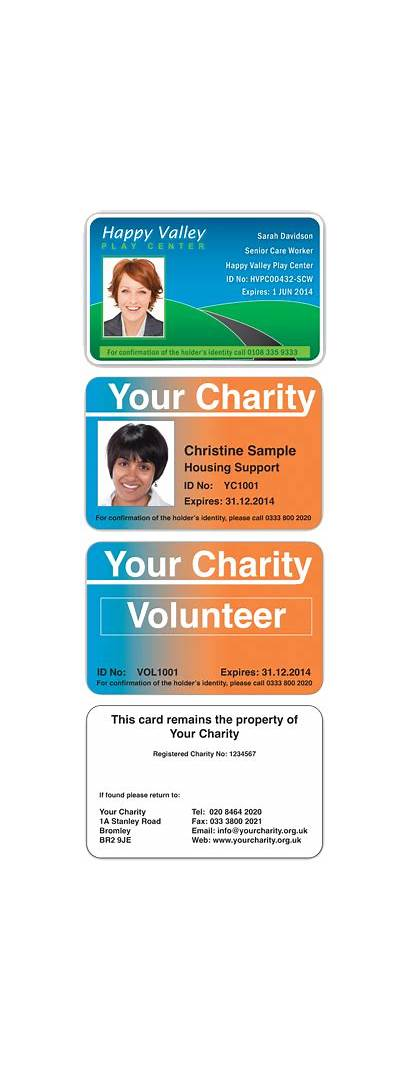 Charity Card Cards Charities Badge Profit Organisations