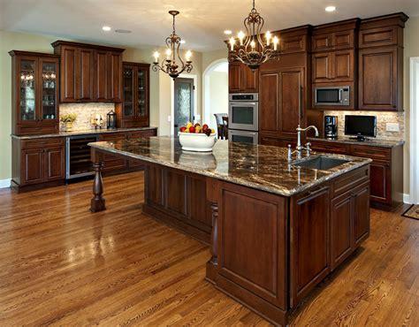 dark cherry cabinets kitchen traditional