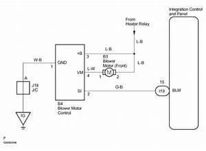 2001 Toyota Camry Wiring Diagram Blower