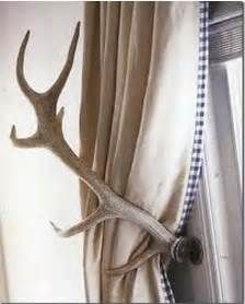 antler tie backs driven by d 233 cor mountain cottage ideas