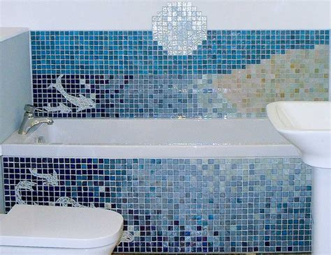 Badezimmer Fliesen Modern Mosaik by 30 Stunning Pictures Of Glass Mosaic Tile For Bathroom Walls