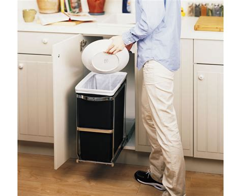under cabinet trash bins simplehuman 30l commercial grade pull out trash can