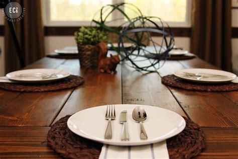 Everyday Kitchen Table Centerpiece Ideas - ikea hack build a farmhouse table the easy way east coast creative