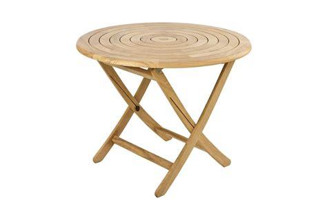 table de jardin pliante et ronde 130 cm en bois massif haut de gamme la galerie du teck