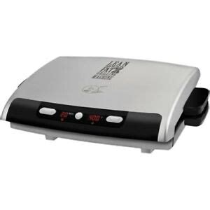 George Foreman 6 Serving Removable Nonstick Plate Countertop Grill by George Foreman Grp99 6 Serving Removable Plate Grill