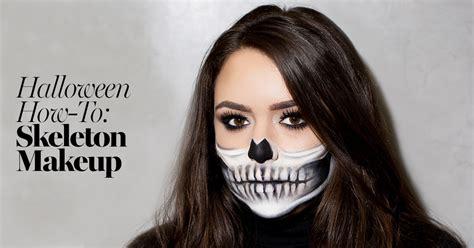 skeleton makeup tutorial halloween   prettiest skeleton costume   glamour