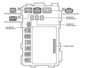 Interior Fuse Box Diagram For 05 Corolla