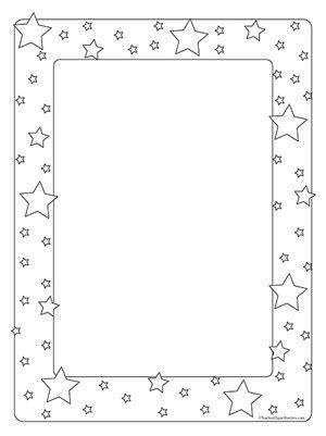 Stars- Portrait Blank - Teacher Clipart Borders