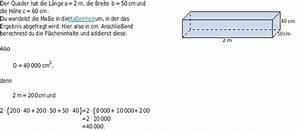 Quader Höhe Berechnen : oberfl chenberechnung bettermarks ~ Themetempest.com Abrechnung