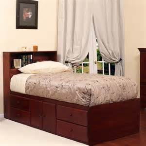 extra long twin storage bed with 4 drawers 2 doors
