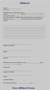 Download Free Affidavit Forms