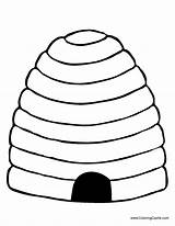 Bee Hive Beehive Coloring Bees Drawing Outline Clipart Honeycomb Crafts Craft Template Skep Hives Mumblebeeinc Bumble Clip Draw Preschool Barn sketch template