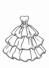 Coloring Pages Wedding Dress sketch template