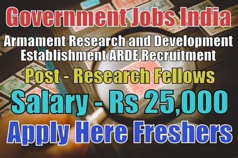 ARDE Recruitment 2018 for Research Fellows Apply Online ...