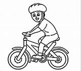 Coloring Bike Helmet Riding Cycling Bmx Colouring Bicycle Printable Wearing Template Rider Cycle Popular Sketch Getcolorings Olympic sketch template