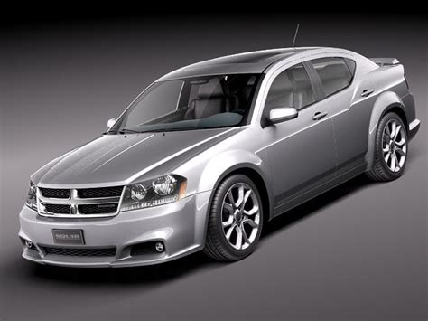 dodge avenger rt   model max obj ds fbx cd