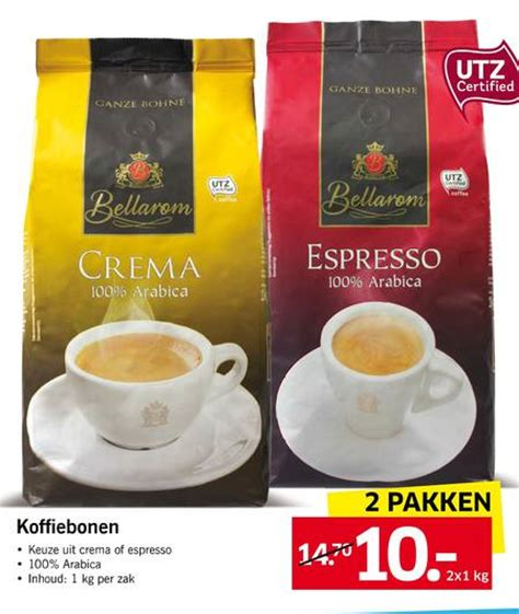 Bellarom koffiebonen folder aanbieding bij Lidl   details
