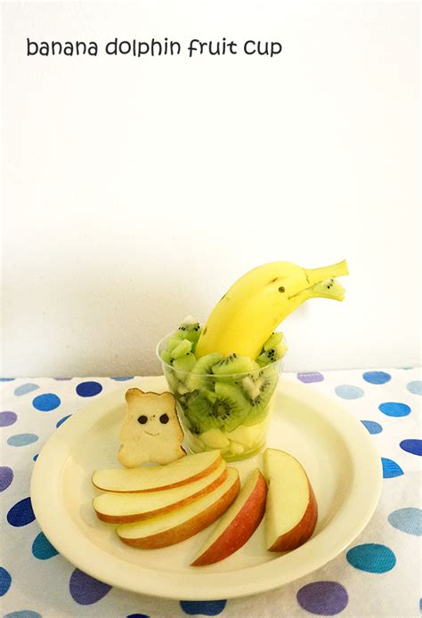 banana dolphin fruit cup working moms edible art