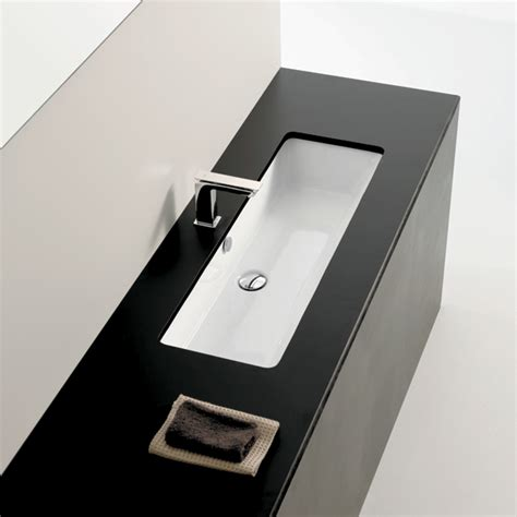 vasque a coller sous plan vasque sous plan 90x33 cm blanc artceram sdebain