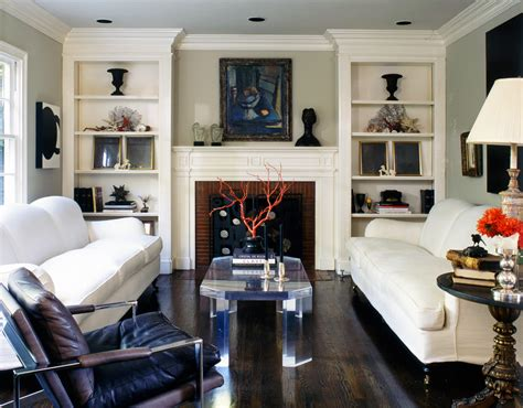 living room bookcase ideas built in bookcases living room transitional with brick