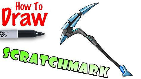 draw scratchmark pickaxe fortnite youtube
