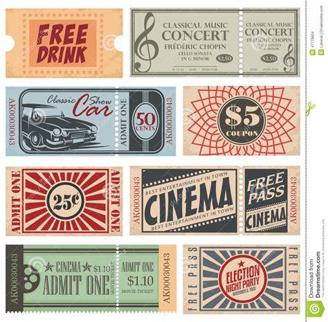 retro   coupons stock vector illustration