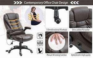 Home Office Computer Desk Massage Chair Executive