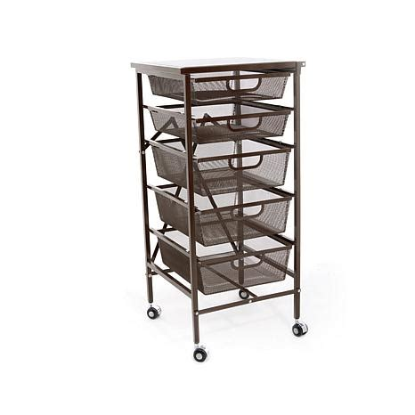 Origami Kitchen Cart by Origami 5 Drawer Kitchen Cart With Wooden Top 8271923 Hsn