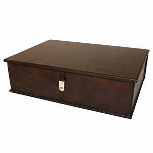 dark leather document box temple webster With leather document box