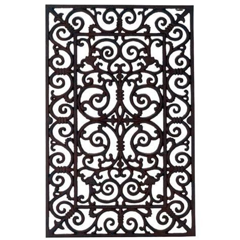 Wrought Iron Doormat by Cast Iron Door Mat L Design Wrought Iron Bronze