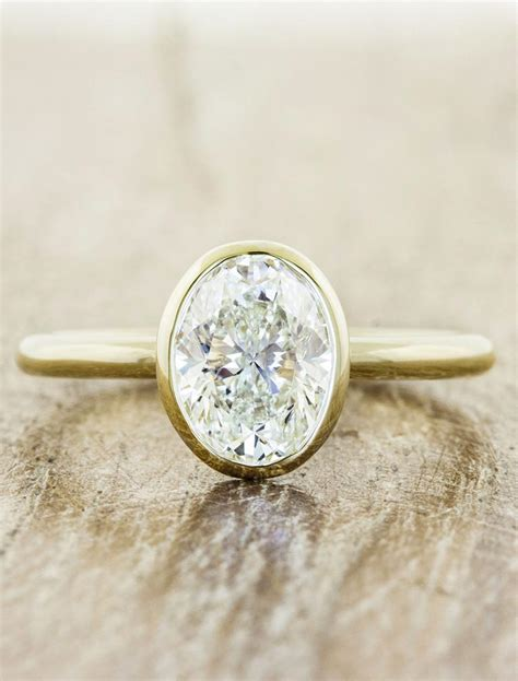 minimal modern bezel diamond ring ken design