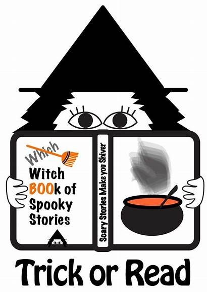 Library Clipart Halloween Elementary Librarian Reading Witch