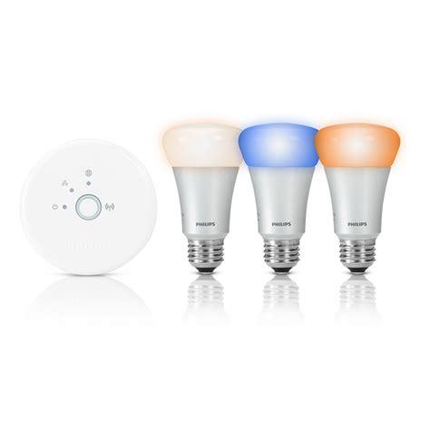 philips hue starter pack wifi bridge 3 hue led bulbs