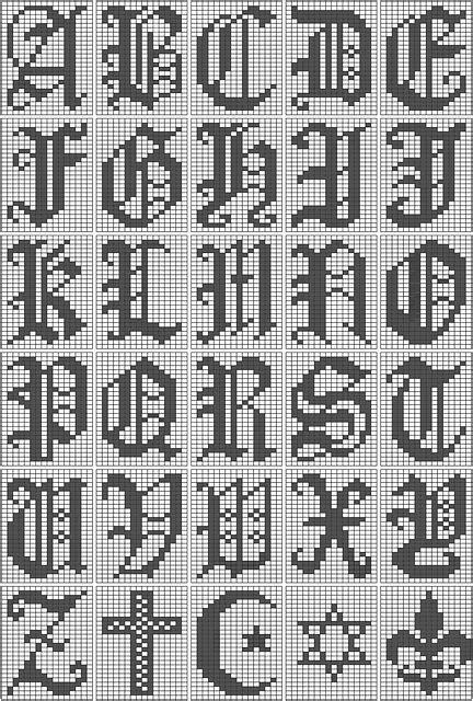 images  filet crochet alphabets  pinterest stitches filet crochet charts