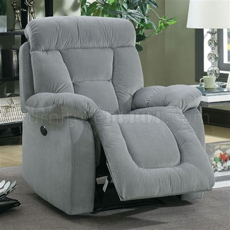 bloomington cm6129gy reclining sofa in gray fabric w options
