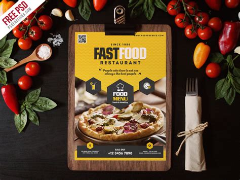 fast food cuisine fast food restaurant menu flyer template psd psdfreebies com